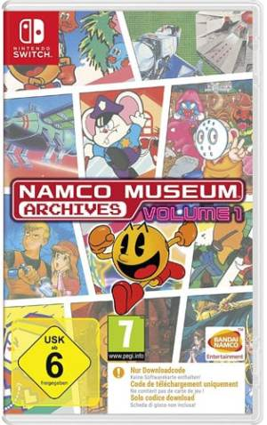 Namco Museum Archives Vol.1  Switch Code in a box
