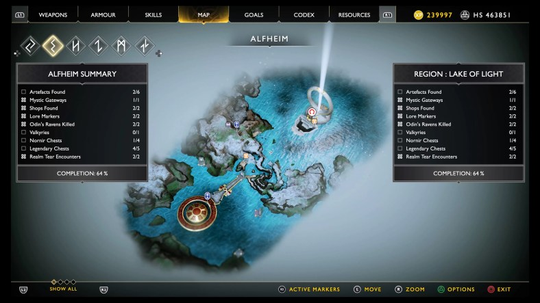 God Of War Alfheim Collectible Locations Guide 100 Completion