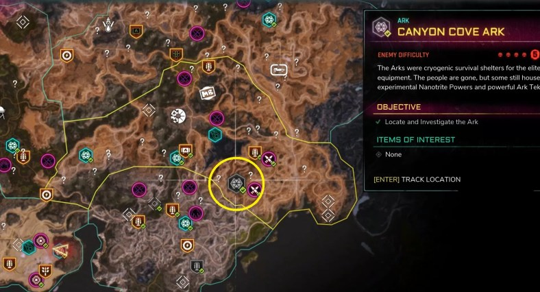 Rage 2 Ark Locations Guide