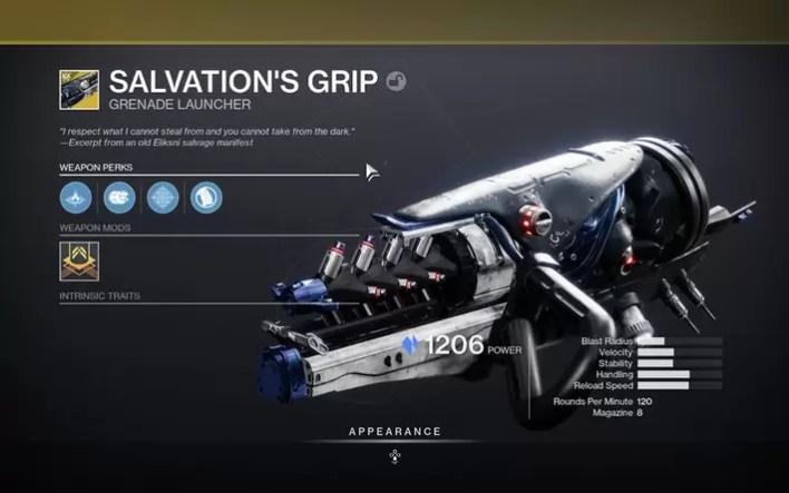 Destiny 2 Beyond Light Salvation's Grip Guide
