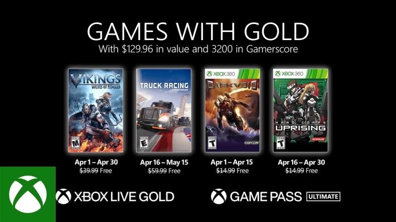 Xbox Games dengan Emas untuk April 2021