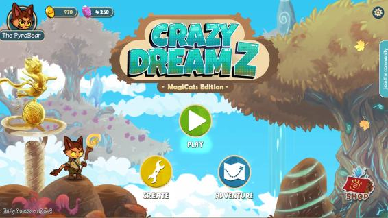 Crazy Dreamz 01 Main Menu