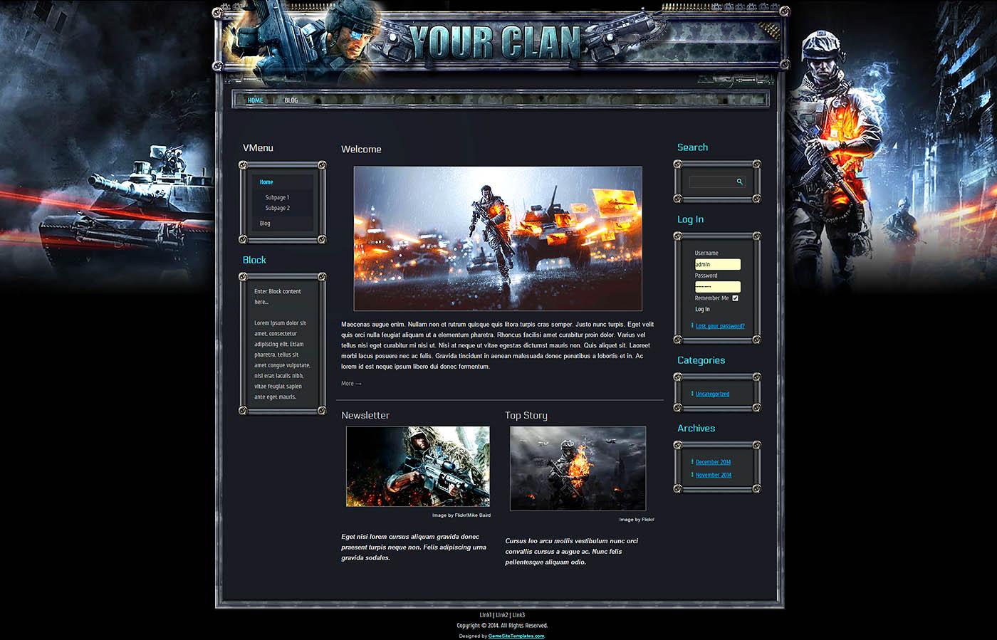 free game templates