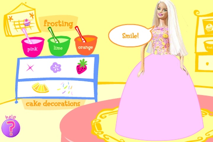 Free online barbie cake decorating games for All barbie house decoration games