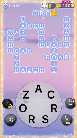 Word Crossy Level 629 Answers Cheats and Solutions