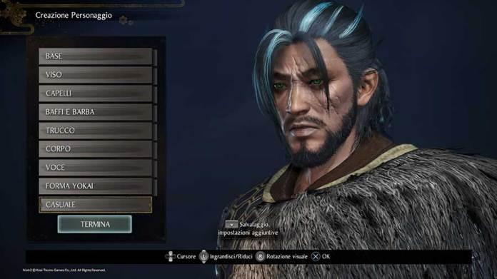 Nioh 2 Recensione Ps4 La personalizzazione del personaggio