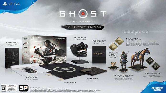 Ghost of Tsushima collector edition