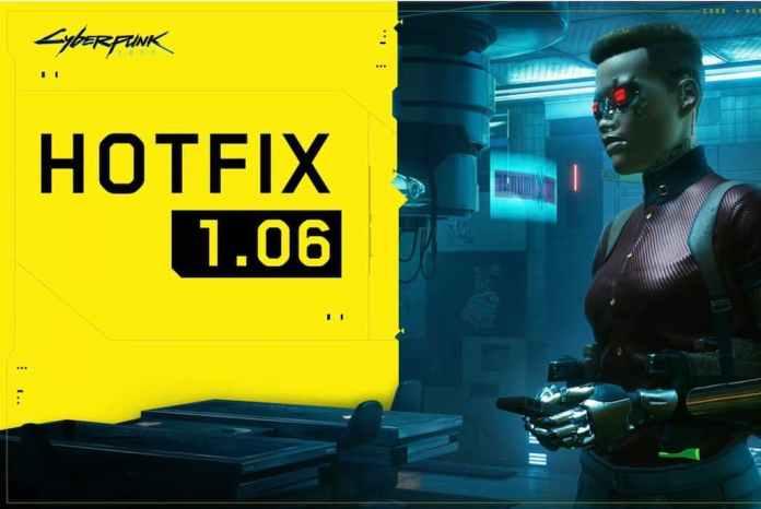 Cyberpunk 2077 aggiornamento 1.06