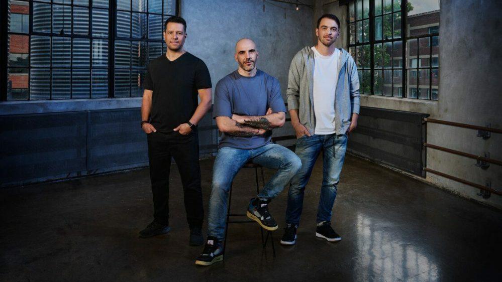 (De gauche à droite) Mike Yazijian, directeur artistique ;  Roman Campos-Oriola, directeur créatif ;  Philippe Ducharme, producteur principal