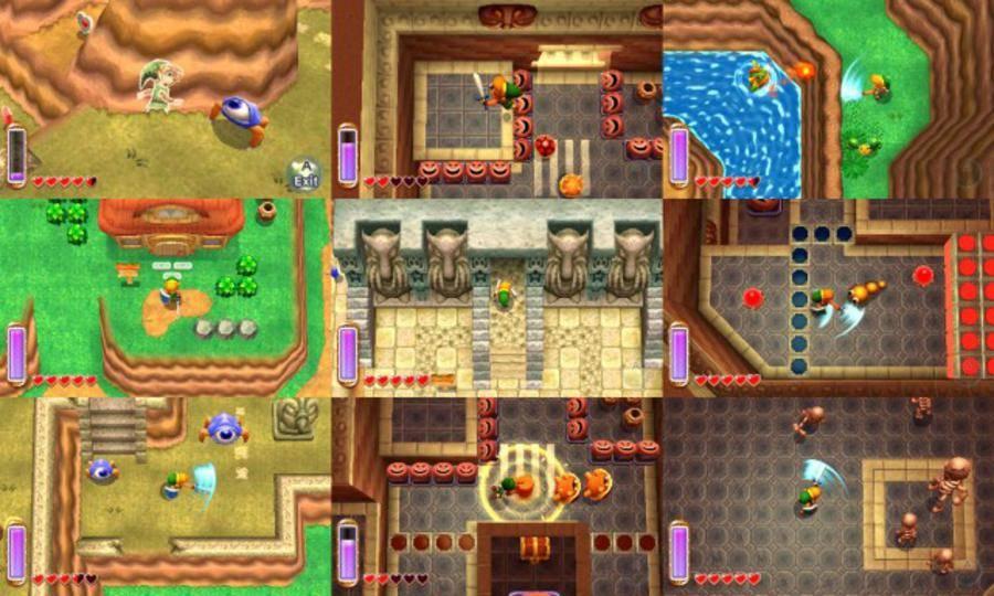 Zelda Link Between Worlds Map Wallpaper