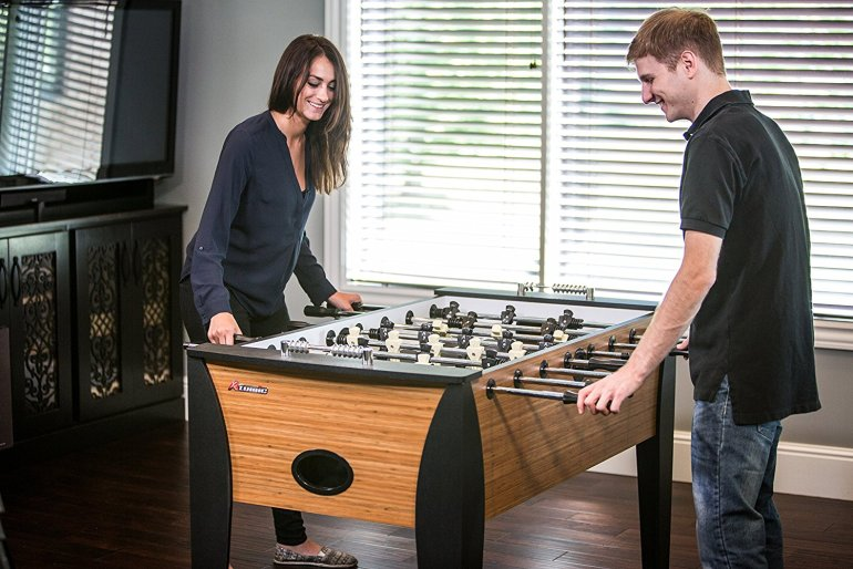 Foosball table in a home games room