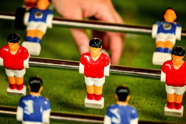 Foosball Table With Men & Ball