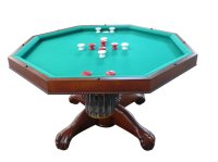 """3 in 1 Table - Octagon 48"""" Table with Slate Bumper Pool ..."""