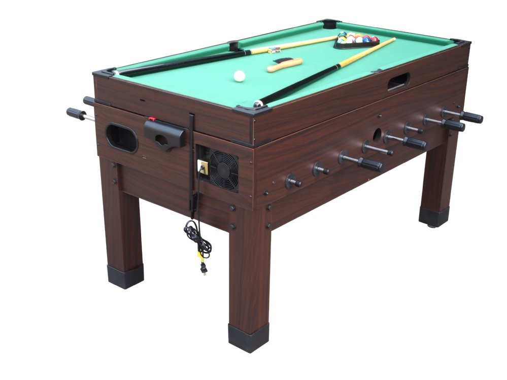 13 in 1 Combination Game Table in Espresso | The Danbury | Foosball Table | Air Hockey | Pool Table | Shuffleboard | Ping Pong | Playcraft