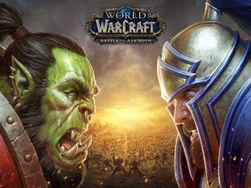 World of Warcraft Battle for Azeroth Key Art 2 Orc v Human