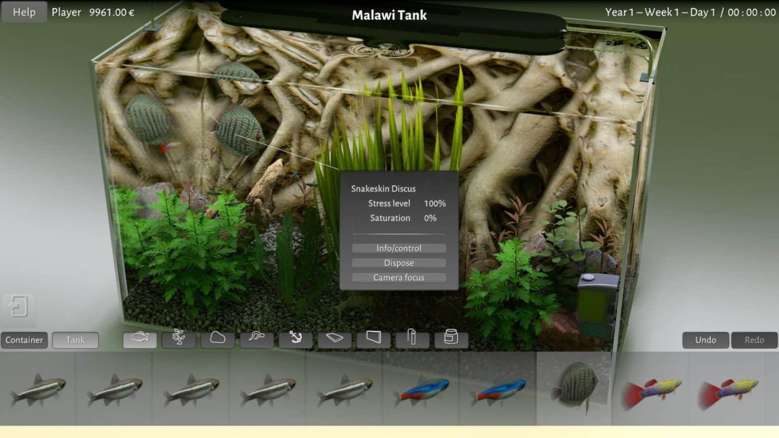 Aquarium-Simulator Biotope