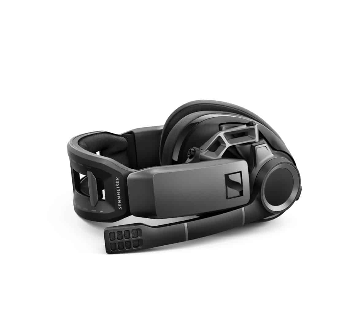 GSP 670 Jaeger Headset Isofront laying RGB red