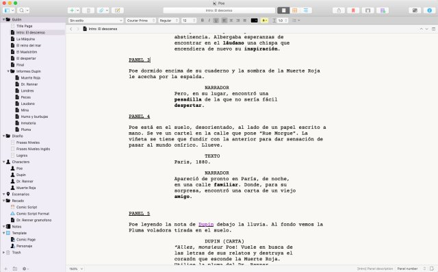 Write a video game script with Scrivener - Gametopia