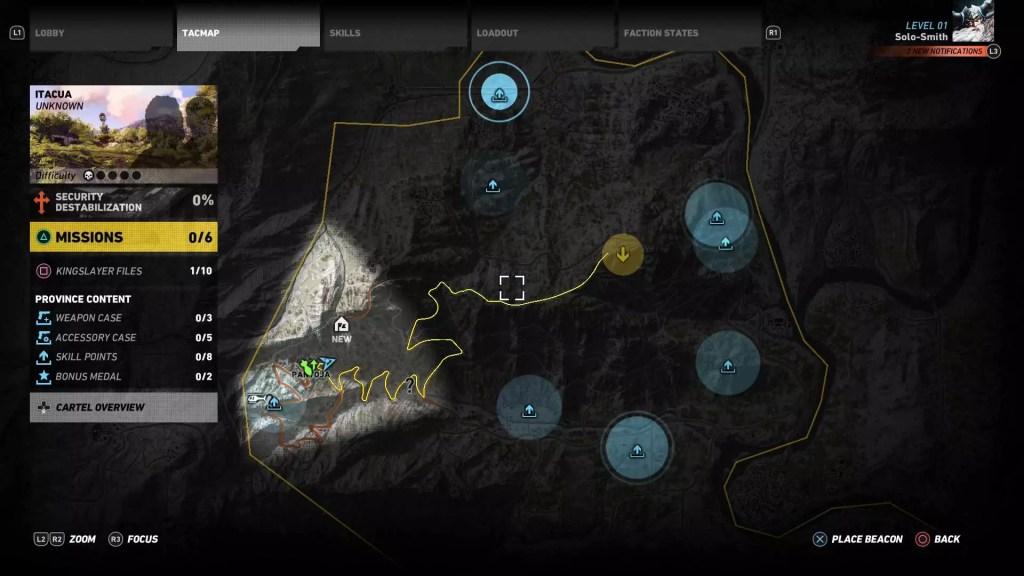 Ghost-Recon-Wildlands-Skill-Points-Map-Itacua-Region-Map
