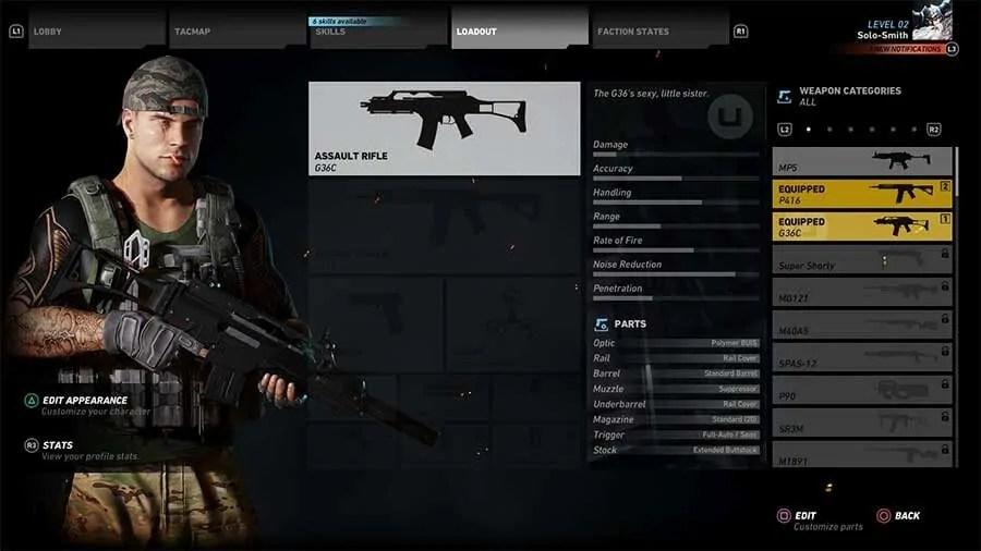 Ghost-Recon-Wildlands-Unlock-All-Weapons-G36C