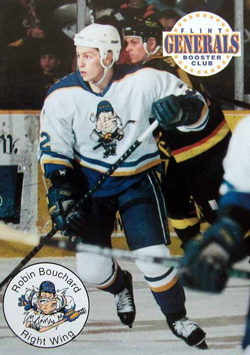 199596 Robin Bouchard CoHL Flint Generals Game Worn