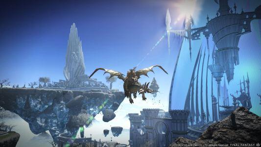 Final-Fantasy-XIV-Karte-mit-Flug-Reittier