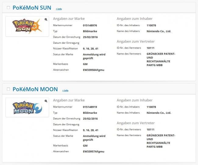 Pokémon Sun & Moon Markenschutz