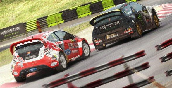 Im neuen Rallycross-Modus treten wir gegen andere Fahrer auf der Strecke an