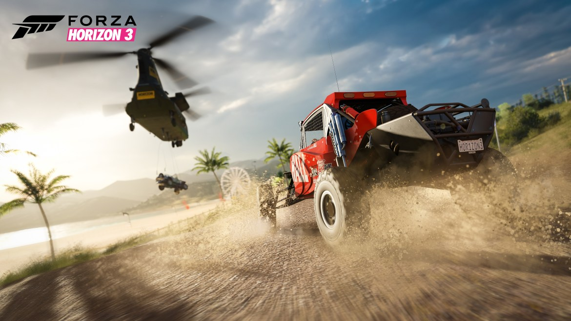 Duell Buggy vs. Chopper: In Forza Horizon 3 wird es real!