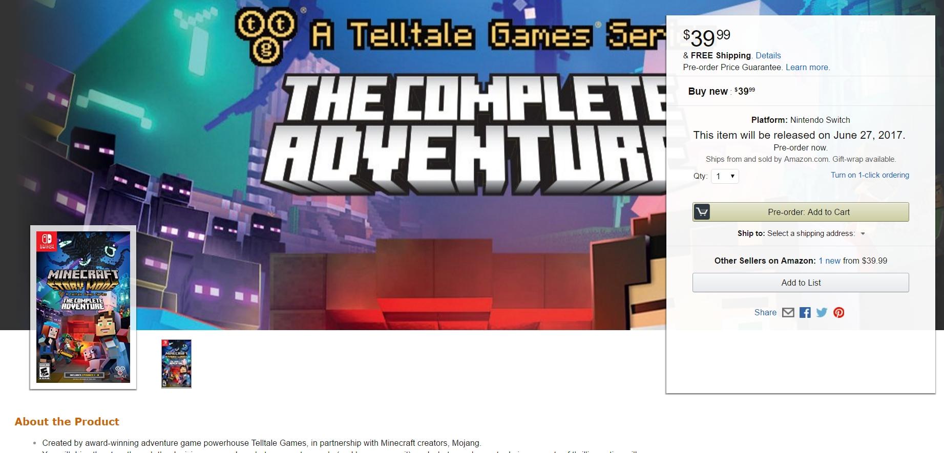 Kommt Minecraft Story Mode Auch Für Nintendo Switch GamezGeneration - Minecraft spiele amazon