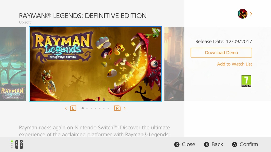 Rayman Legends Definitive Edition Demo