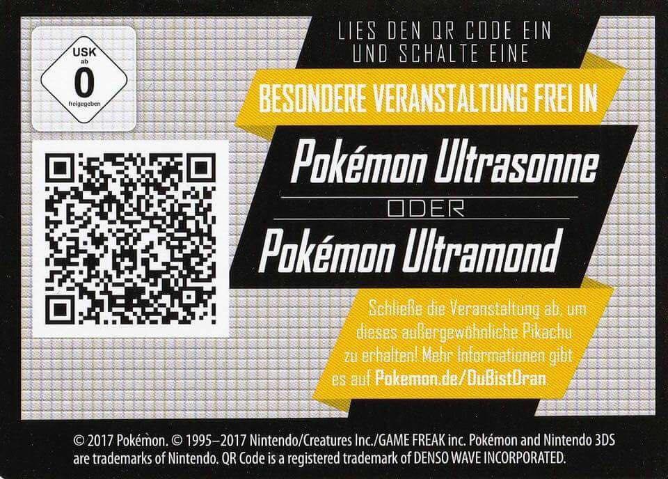 Pokémon Ultra Mond und Ultra Sonne QR