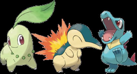 Drei Starter Pokémon
