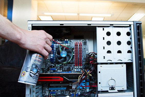 Cleaning Your Gaming PC with Canned Air