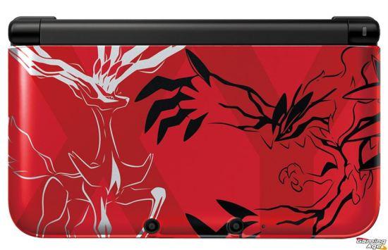 Pokemon XY 3DS XL_Red Hardware_rgb