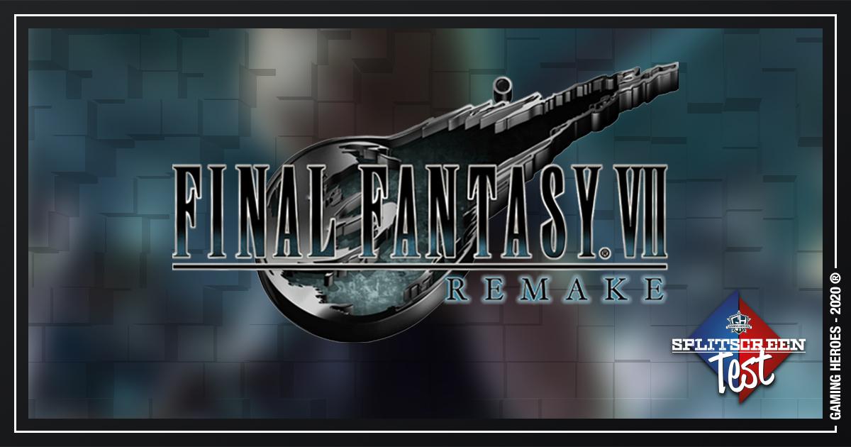 Final Fantasy 7 Remake - Splitscreen Test