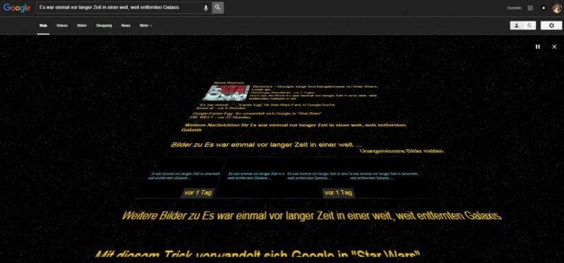 Google Suche Star Wars Easter Egg