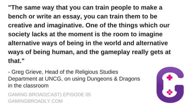 Greg Grieve, Head of the Religious Studies Department at UNCG, on using Dungeons & Dragons in the classroom