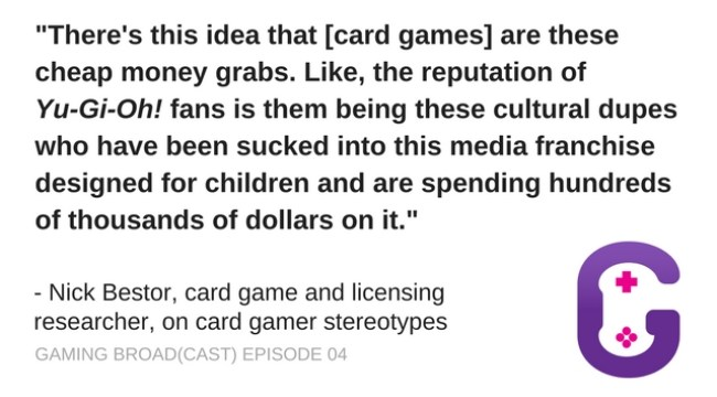 Nick Bestor on card gamer stereotypes and Yu-gi-yoh