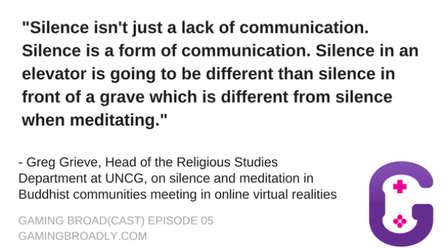Greg Grieve, Head of the Religious Studies Department at UNCG, on silence and meditation online