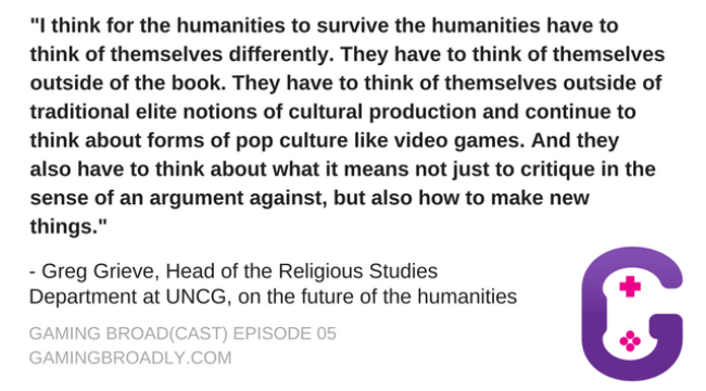 Greg Grieve, Head of the Religious Studies Department at UNCG, on the future of the humanities