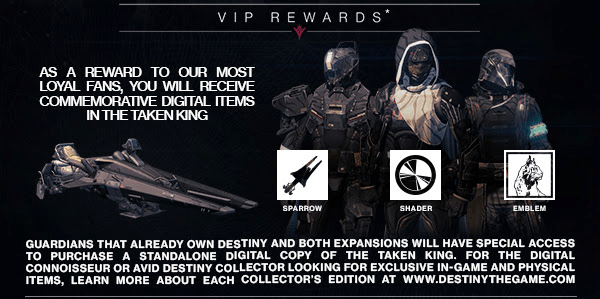 Black Shader, Black Sparrow, and an emblem for VIP Members.