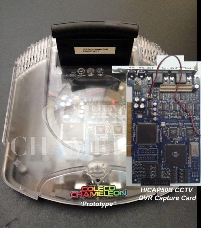 Coleco Chameleon Prototype/HICAP50B Comparison