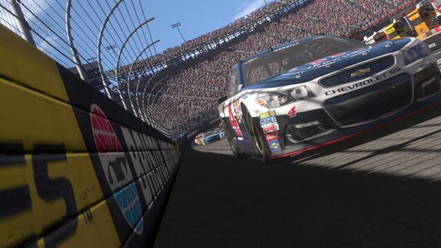 The #4 of Kevin Harvick at Bristol Motor Speedway.