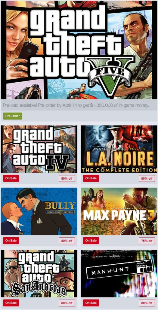 Rockstar Games are 75%-80% Off In Humble Store Weekend Sale