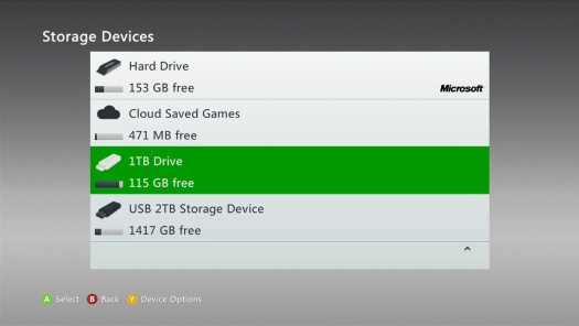 Xbox 360 System Update for Preview Program Members Now Supports 2TB Hard Drives