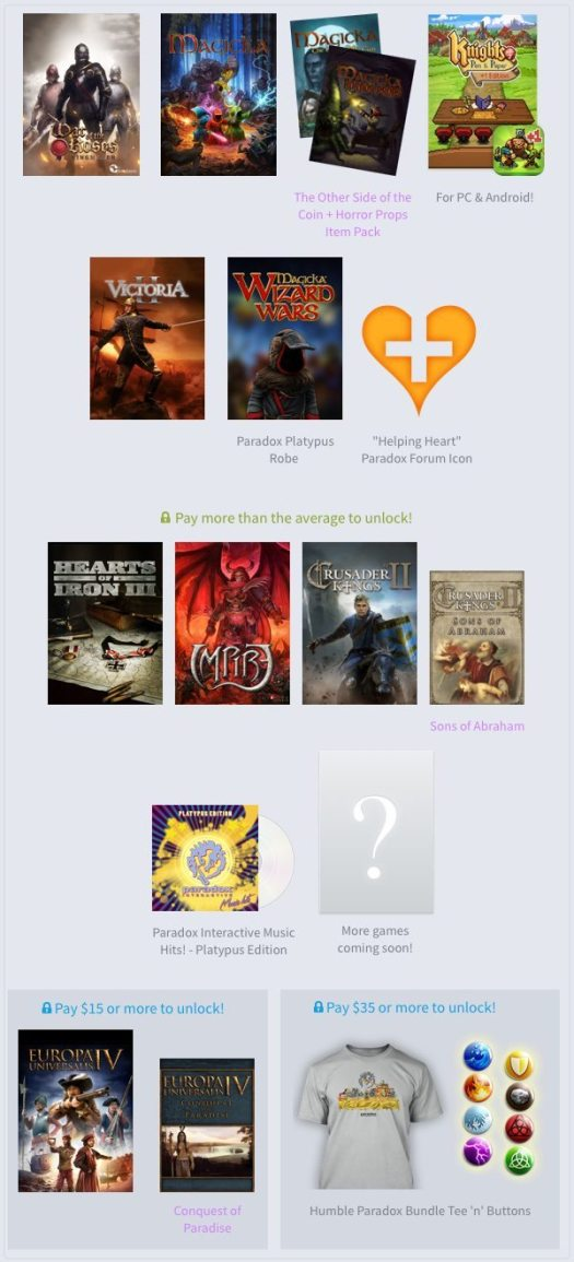 Humble Paradox Interactive Bundle is Now Live