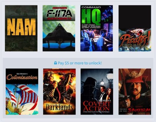 Humble Weekly Bundle Retroism Now Available