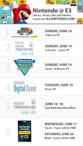 E3 2015 Nintendo Events Schedule