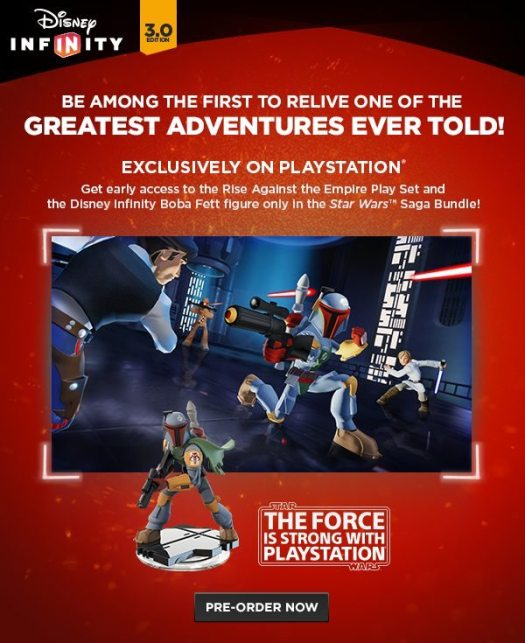 Disney Infinity 3.0 Edition: Star Wars Saga Bundle Available Exclusively for PlayStation